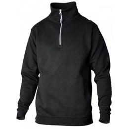 Sweatshirt med krage och zip