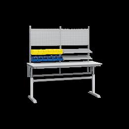 Arbetsbord höj- och sänkbara med påbyggnad