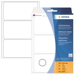 Märketikett Herma 52x100mm 96st/fp Vit