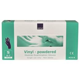 Vinylhandske Blå pudrad