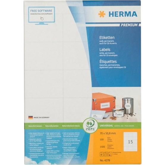 Etikett herma superprint
