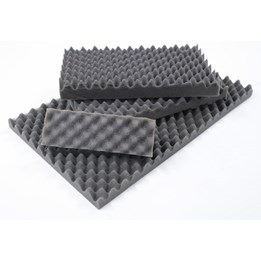 Soft-pack skivor Profilerad polyeter grå 210x148x30/10mm