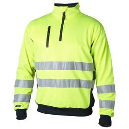 Sweatshirt varsel  gul 100% polyester klass 3