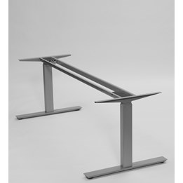 Skrivbordsstativ Eldrivet Silvergrå