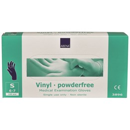 Vinylhandske blå opudrad