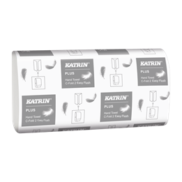 Pappershandduk Katrin Easyflush Plus C-fold 2-lager
