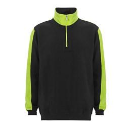 Sweatshirt Halfzip Modena Svart/gul
