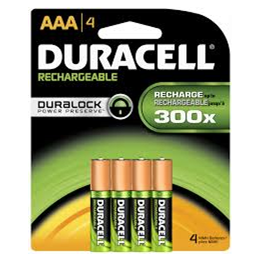 Batteri Duracell Recharge AAA