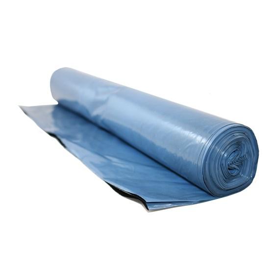 Plastsäck 125L COEX Blå BIO av sockerrör LLD 60my
