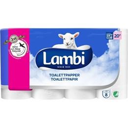 Toalettpapper Lambi med dekor 3 -lager