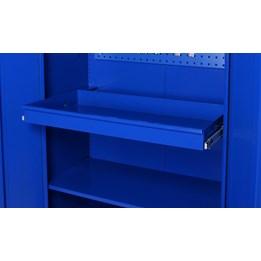 Utdragbar låda blå
