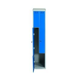 Klädskåp z blå 2-dörrar