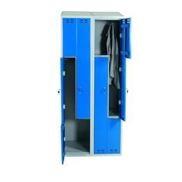 Klädskåp z Blå 4-dörrar