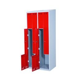 Klädskåp z Röd 4-dörrar