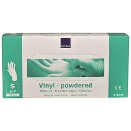 Vinylhandske Transparent pudrad