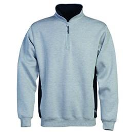 Sweatshirt med kort dragkedja