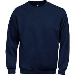 Sweatshirt med borstad insida Marinblå