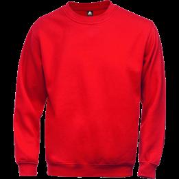 Sweatshirt Acode Röd Med rund hals