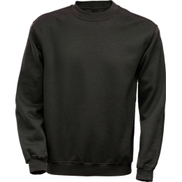 Sweatshirt med borstad insida Svart