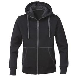 Sweatshirtjacka med huva dam svart