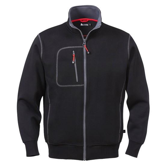 Sweatshirt a-code svart Med zip