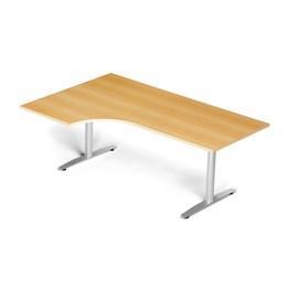 Skrivbord Mod 51, L-form, T-stativ, bok