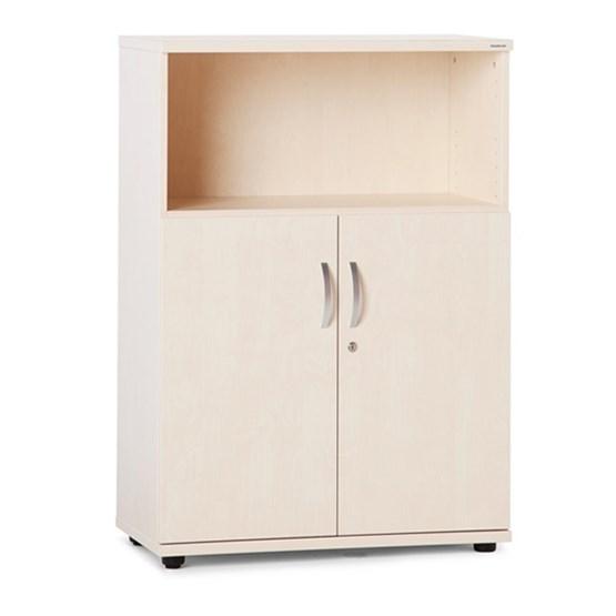 Förvaringsmöbel, öppen + slagdörr, 3xA4