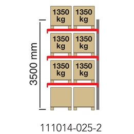 Pallställ Påbyggnadssektion Höjd 3500mm