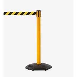 Avspärrningsstolpe gul/svart